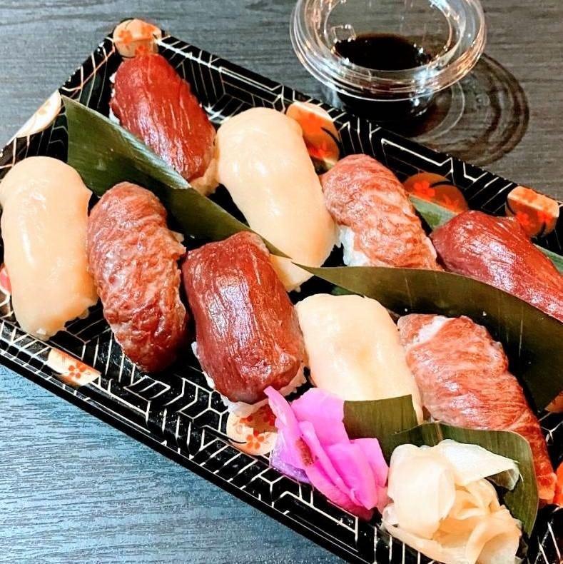 『桜にぎり』 絶品の桜肉をお寿司で