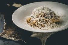 熟成グラスフェッドビーフのラグーソース グラナパダーノチーズドーム