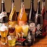 【豊富なドリンク】 ビールや日本酒から梅酒やカクテルまで!