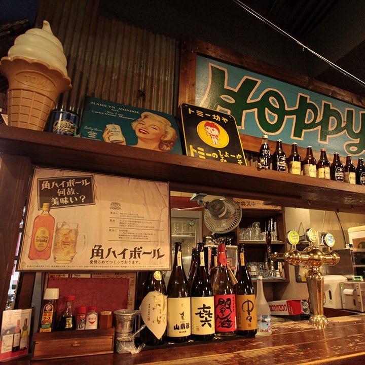 豊富な種類の日本酒と焼酎