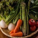 農家より直送される新鮮なお野菜も使用!素材は全てこだわり有