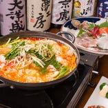 冬季のご宴会は、お鍋もご用意できます。その他の季節もご要望があればお受けいたします