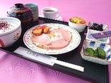 ハムエッグエッグ朝定食