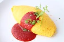 チキンオムライストマトソース
