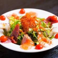 彩り鮮やかな海鮮料理