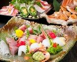 鮮魚のお造りはお醤油の前に 是非、塩で味わって