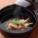 金目鯛と松茸のお椀