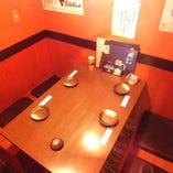 古民家を改良した店内は雰囲気◎ 個室×4卓完備!