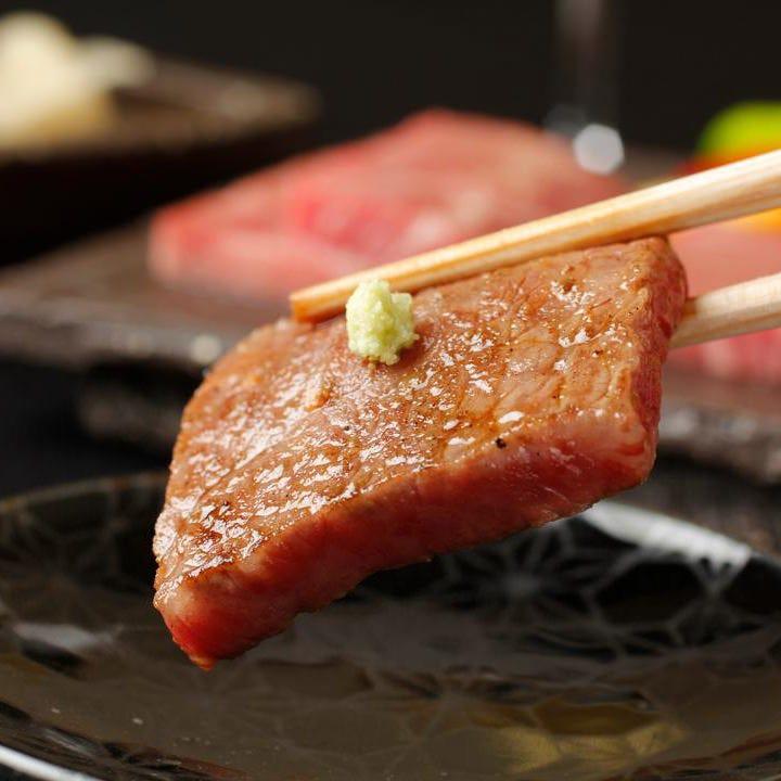 A5和牛焼肉をメインとした会席膳は9,000円(税込)よりご用意