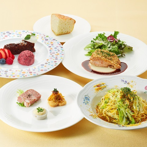 ◇ランチ◇シェフ自慢の前菜やスープ、パスタ、デザートなど6品「パスタランチコース」1980円