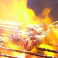 ◆目の前で焼き上げる自慢の串!