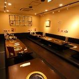 半個室 掘りごたつ席    ~36名様 ご宴会に最適な空間です。
