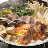 【贅沢コース】肉料理に刺身五点盛り・魚貝鍋などおすすめを盛り込んだ豪華コース 7品 3,500円