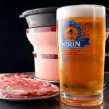 ジンギスカンにビール!北海道気分を満喫!