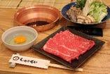 【ランチ】国産豚ロースすき焼きセット