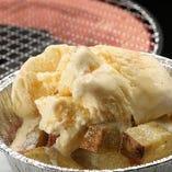 【デザート】 アイスとさつまスティックのコラボが大人気
