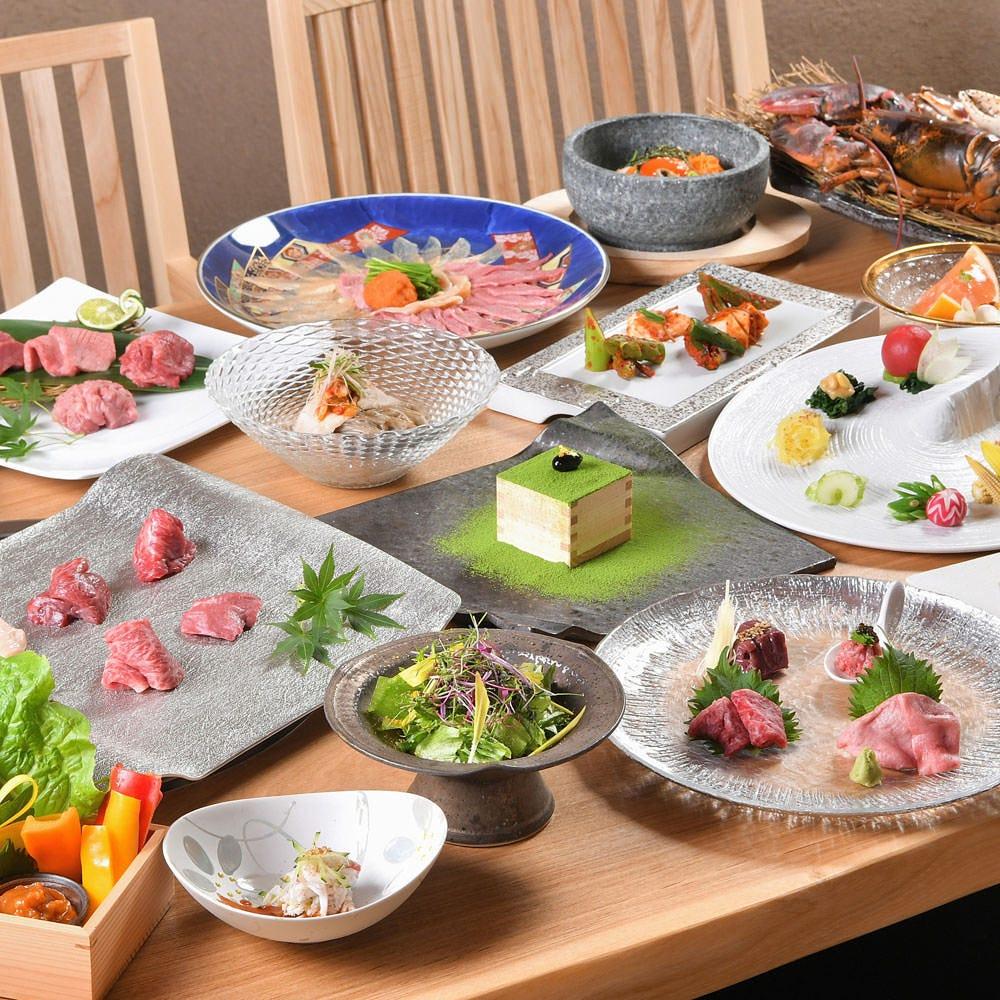 赤身とサシのバランスが絶妙。料理長厳選の良質な肉をコースで