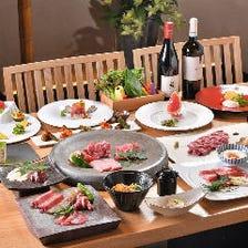 初めてご来店される方にもおすすめ。厳選牛肉を多彩な調理で楽しむベーシックプラン『月コース』全11品