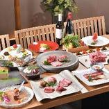 料理長厳選のお肉が楽しめる多彩なコースをご用意しております