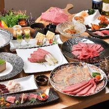 【華コース】上フィレなど選べる塊肉や、特上焼肉9種、海鮮、コムタン鍋など全15品