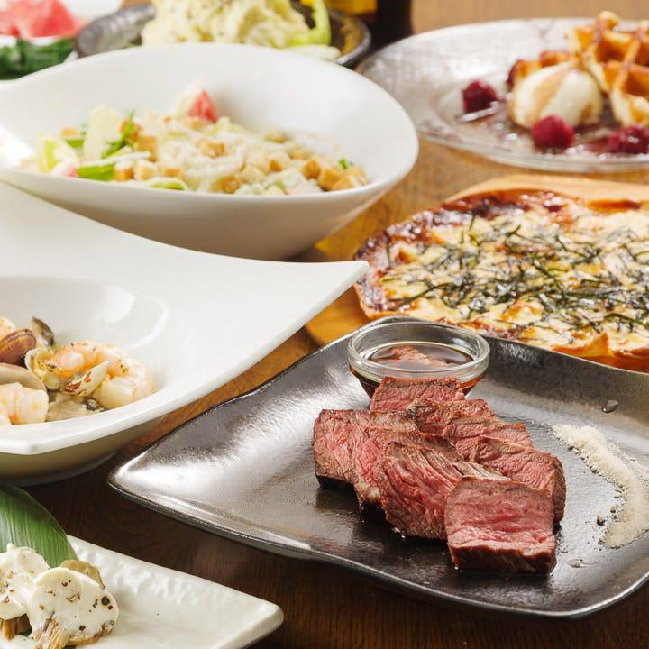 絶品料理が楽しめる2.5H飲み放題付宴会コースを4,000円~ご用意