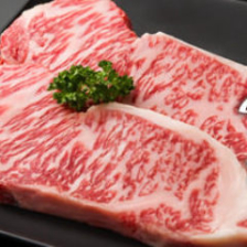 国産黒毛和牛のステーキ