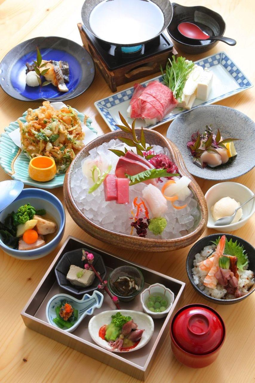 【当店一押し!】『味彩コース』☆お肉・お魚&季節の一品付き|記念日・接待・宴会