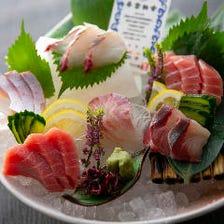 近大マグロと選抜鮮魚のお造り六点盛り