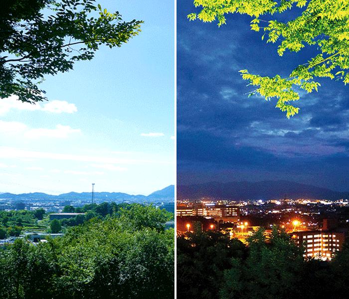 福山を一望できる景観