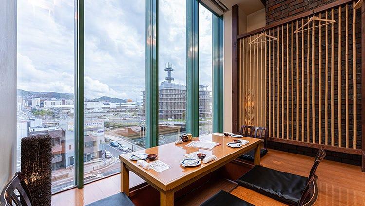 完全個室完備◎景色の良い寛ぎ空間