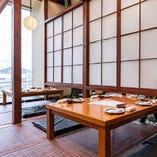 【4F:お座敷半個室】眺めの良い畳のお席(2~4名様×4卓)※簾で仕切り可能