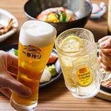 地元長崎や鹿児島の日本酒や焼酎など、種類豊富なドリンクを堪能