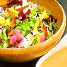 自家製 りんごドレッシングのサラダ