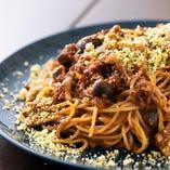 森の木の子の和牛粗挽きボロネーゼスパゲッティ