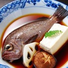 旬の鮮魚をコース仕立てでご提供