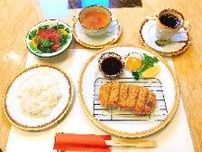 伊豆牛・国産牛 牛カツセット ミニサラダ・ライス・スープ・ソフトドリンク付き