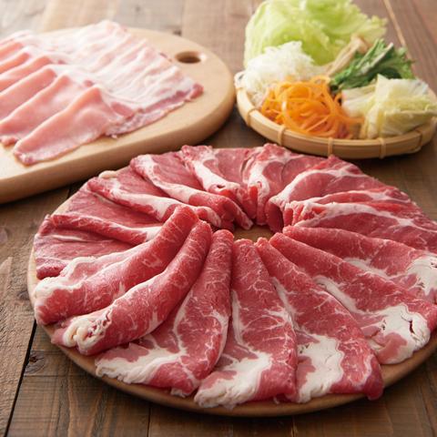 厳選牛と三元豚食べ放題(寿司食べ放題付)