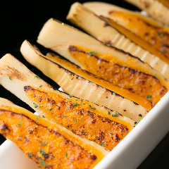 煮筍のスモークチェダーチーズ炙り
