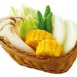国産焼き野菜盛り合わせ(生野菜をご提供します。)