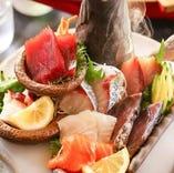 産地直送の道産鮮魚を堪能!「いろりあん盛り」は人気の逸品!