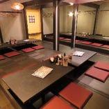最大36名様まで収容可能な宴会個室