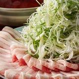 霧島豚と常総葱の鍋