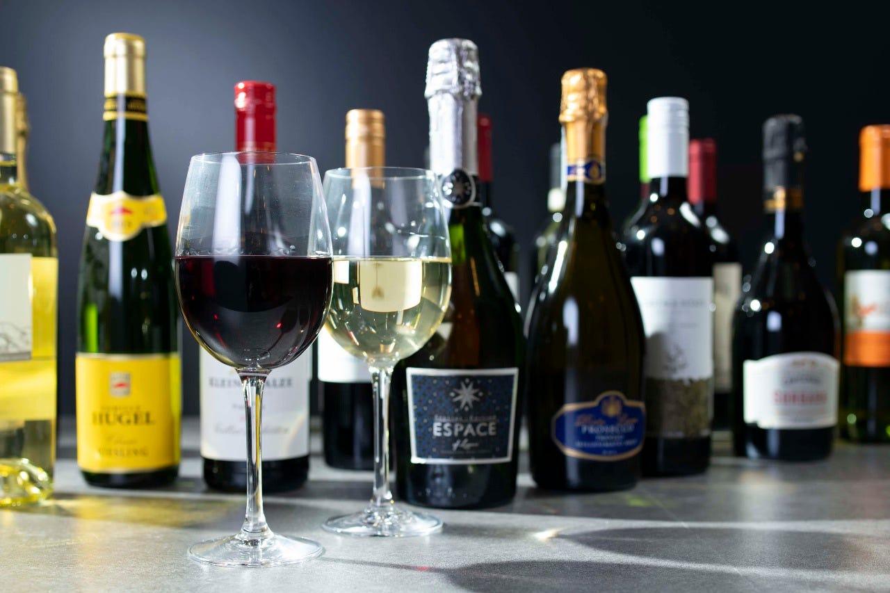 お料理に合ったワインも豊富にご用意