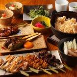 【比内地鶏三昧】ご宴会用 コースは4500円よりご用意!