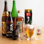 宴会コースに+1,500円(税抜)で追加できる飲み放題のドリンク