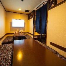TV付の掘りごたつ個室です!