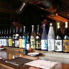 日本酒各種銘柄取り揃えております。
