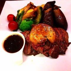 牛肉とフォアグラのタリアータ