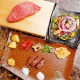 ステーキ盛り付け用のプレート皿には丹波焼きを使用