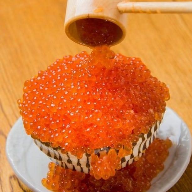 +500円で〆の飯物を大人気「いくらこぼれ飯」に変更可能です!!